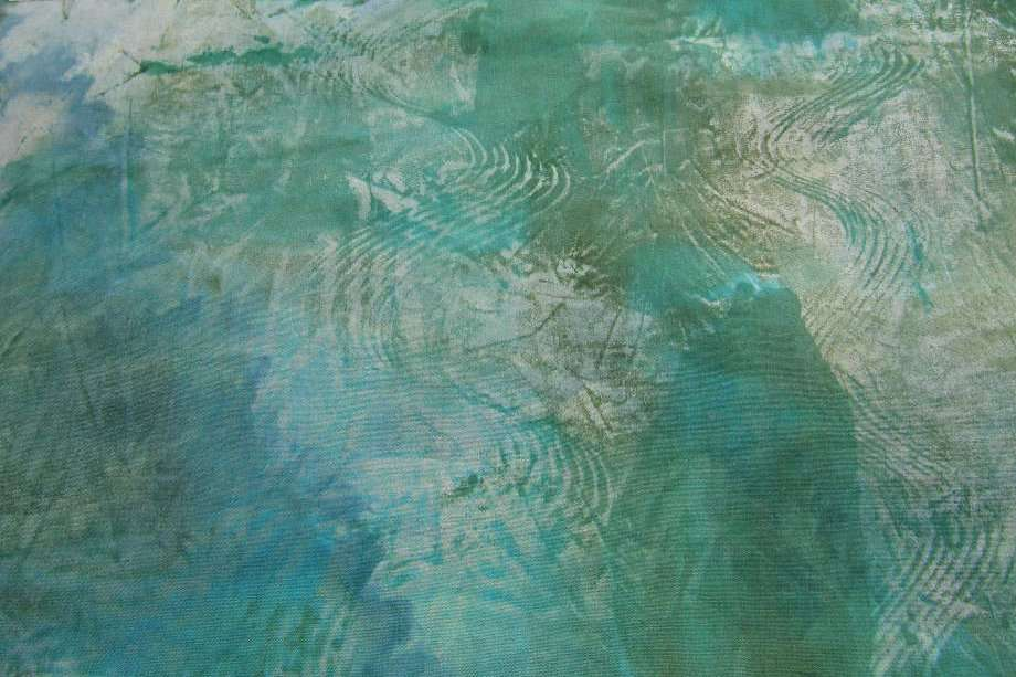 Monoprint made with thickened dye