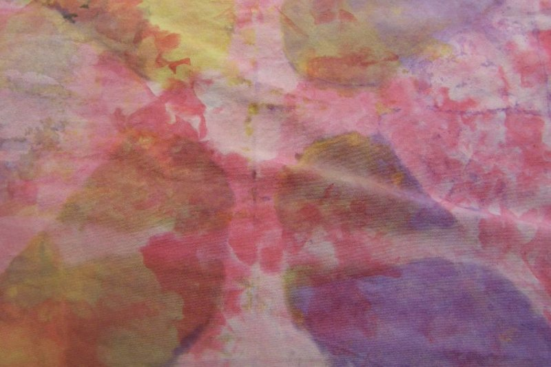 Snowdye, soy wax resist and dye paint on 419