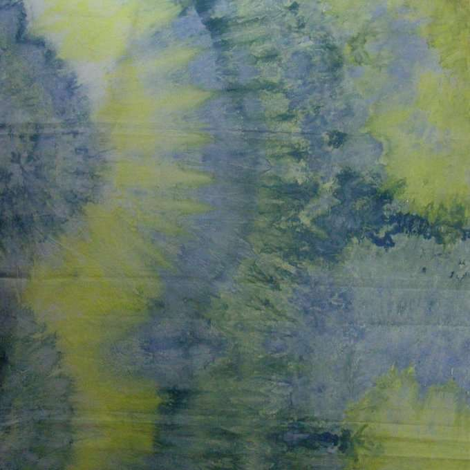 Chartreuse-Yellow-Blue Snow Dyed Broadcloth