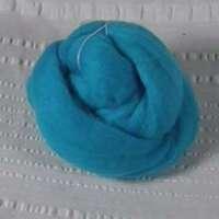 Roving, Merino, 1 oz ball, Med Turquoise feb2019