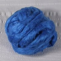Med Blue Tussah silk roving