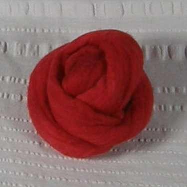 Roving, Merino, 1 oz ball, Scarlet feb2019