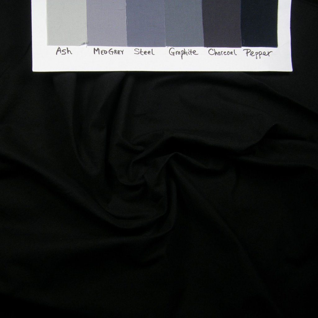 Ultra dark grey (black) evening ink fabric