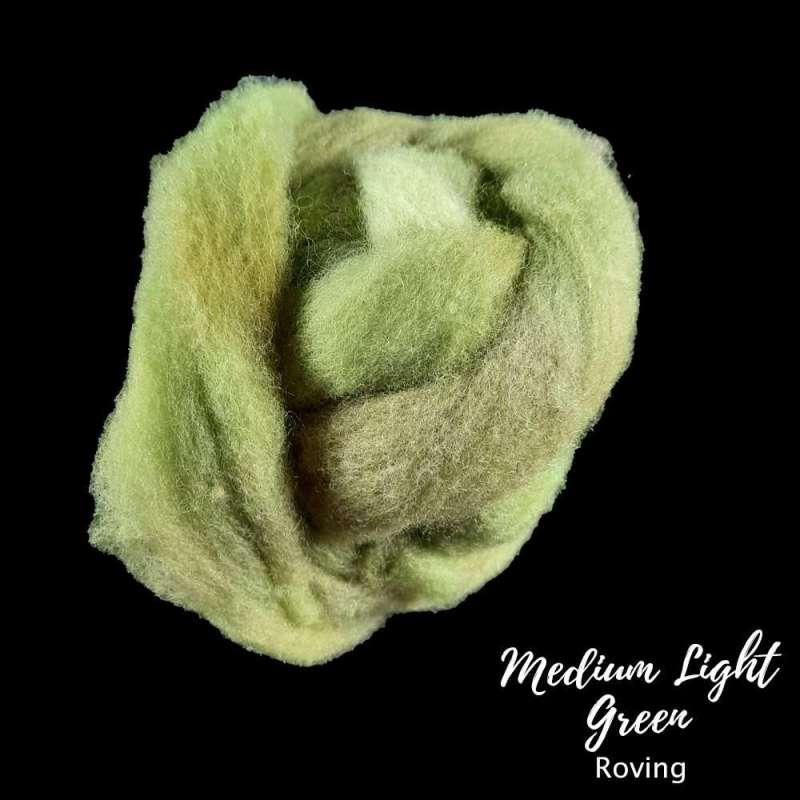 Medium Lilght green roving
