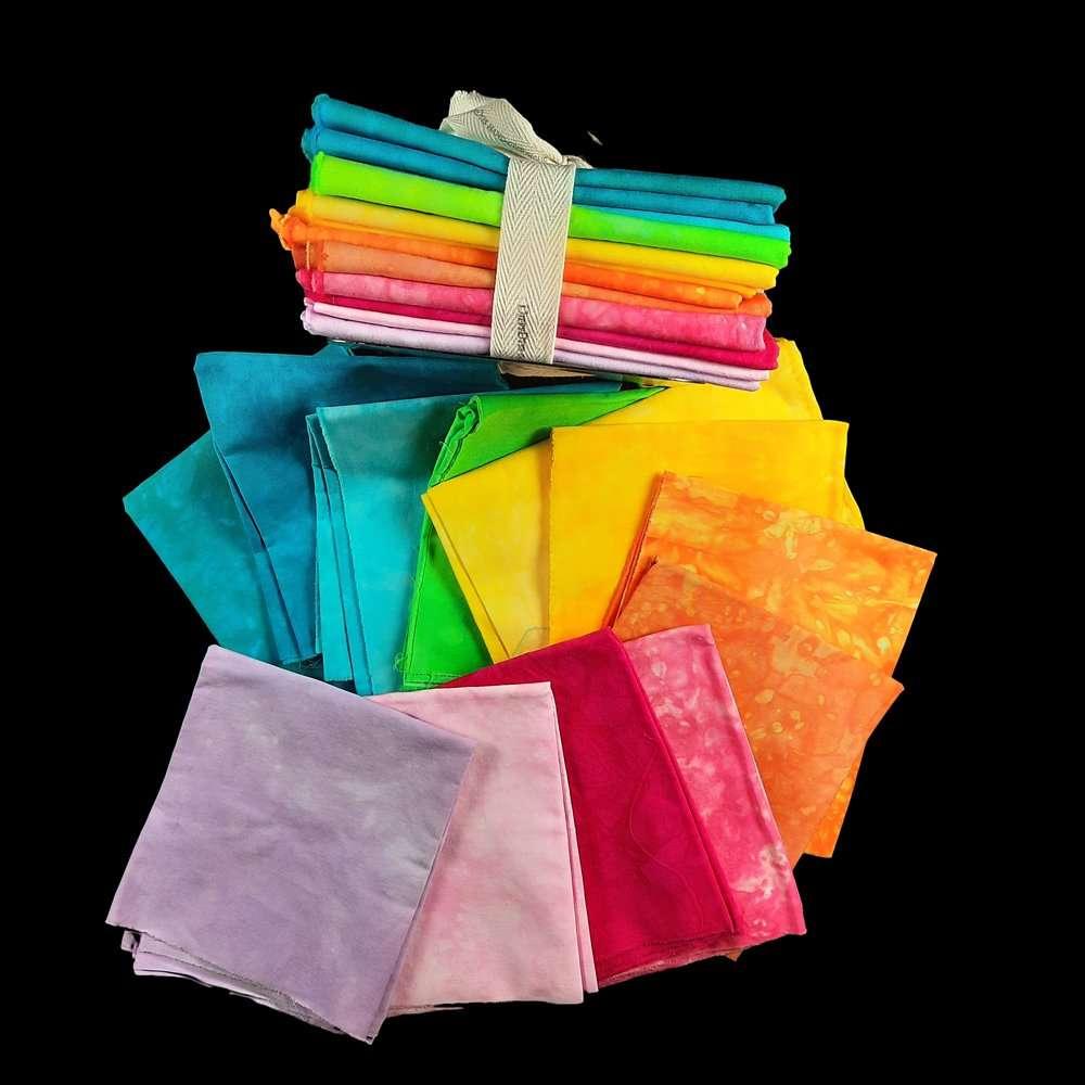 12 LWI Rainbow Fat Eighths and fat quarters