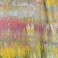 Snow dyed Pimatex in yellow, pink, and green, cross-banded, full width picture #2