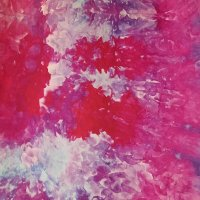 PInk and purple snow-dye detail