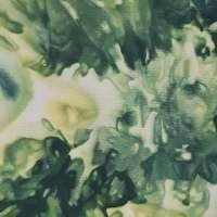 Green, blue, yellow and white snow-dye detail
