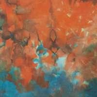 Blue over orange double snow-dye on Pimatex detail