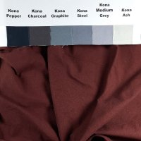 Terra Cotta Rose, ultra-dark, on Kona, unironed