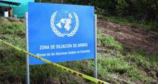 Punto de entrega de armas de la Misión de la ONU en Colombia. Foto: Misión de la ONU en Colombia