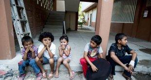 Niños de Guatemala, Honduras y el Salvador en un albergue del ACNUR en México. Los menores viajaron sin un acompañante adulto. Foto de archivo: ACNUR/Sebastian Rich