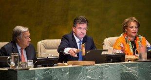 Miroslav Lajcák inaugura el 72º periodo de sesiones de la Asamblea General de la ONU. Foto: ONU/Kim Haughton