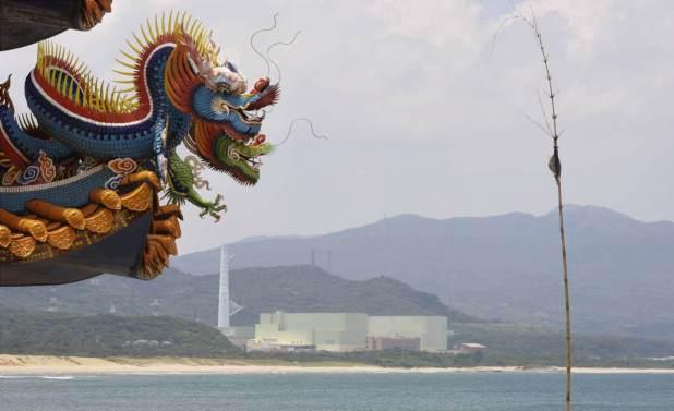Panorámica de la central nuclear de Lungmen, cuya construcción está paralizada. Daniel García