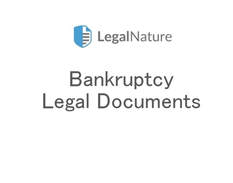 Bankruptcy Legal Documents
