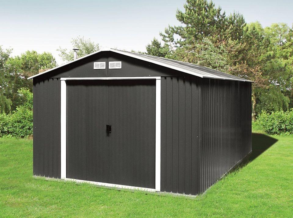abri de jardin metal duramax 11 62 m2