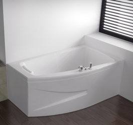 En Vente Pure Design Asymtrique 160x90 Baignoire