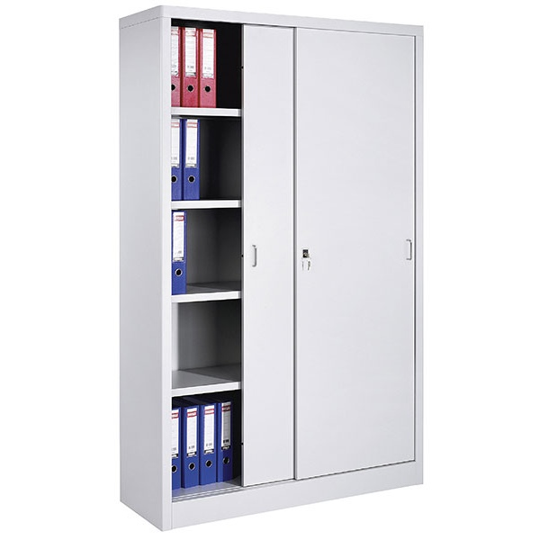 armoire monobloc haute portes coulissantes avec 4 etageres l120 x p43 5 x h 199 cm