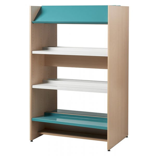 rayonnage bibliotheque uranus travee depart double face h 120 cm