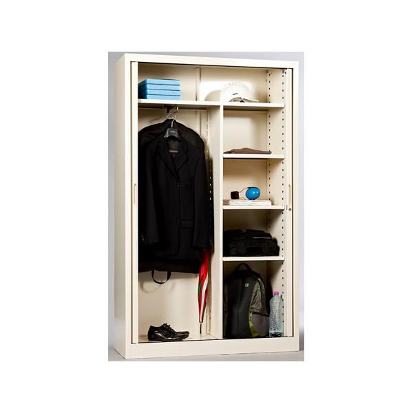 armoire metallique monobloc a rideaux 1 2 penderie 198x120 cm