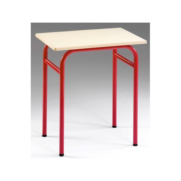 table scolaire 4 pieds primo melamine chant polypropylene sans casier 80x60 cm