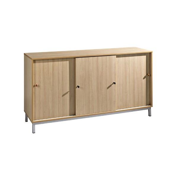 meuble bas 3 portes coulissantes l180xh95xp45 cm
