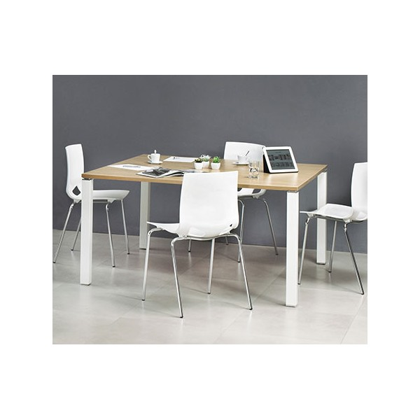 table de reunion carree 140 x 140 cm pieds exprim