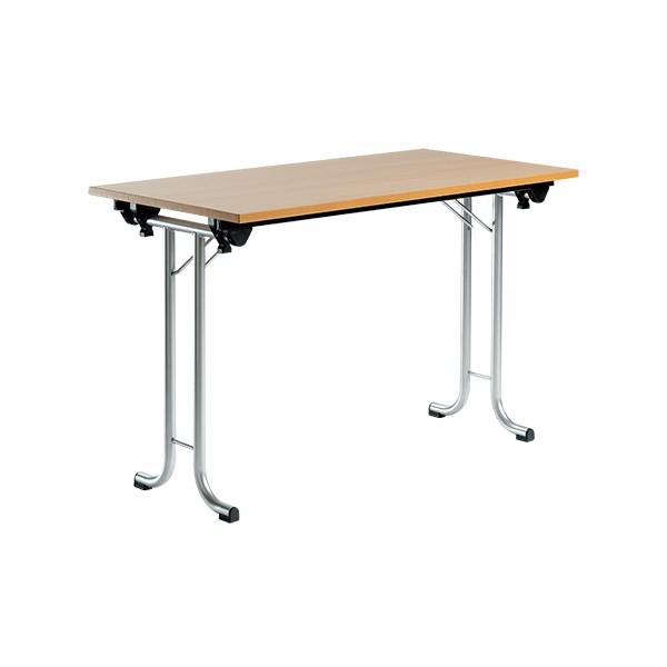 table pliante de seminaire delta melamine chant pvc 120x60 cm