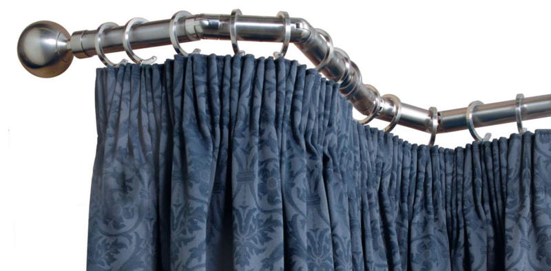 choosing bay window curtain poles