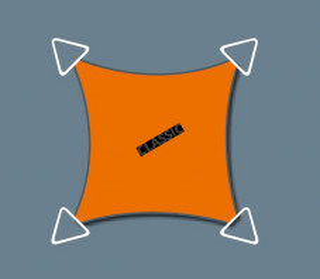 voile d ombrage concave 4 x 3 permeable