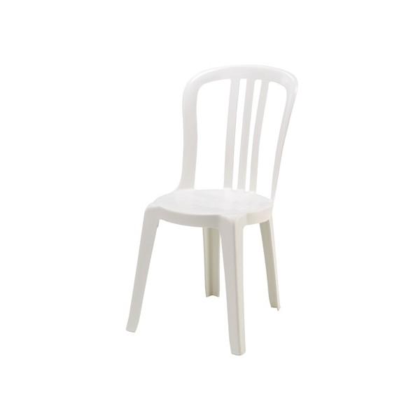 lot de 14 chaises bistrot blanches empilables