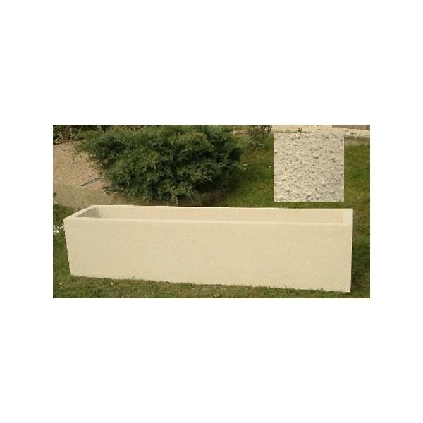 jardiniere rectangulaire 215l 200x45xh45 cm finition pierre