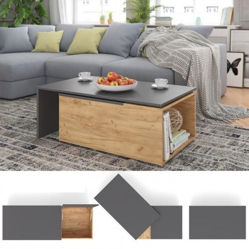 table basse coulissante et pivotante modele dresde 3 coloris