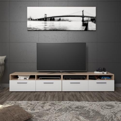 meuble bas tv separable 190 cm 3 coloris