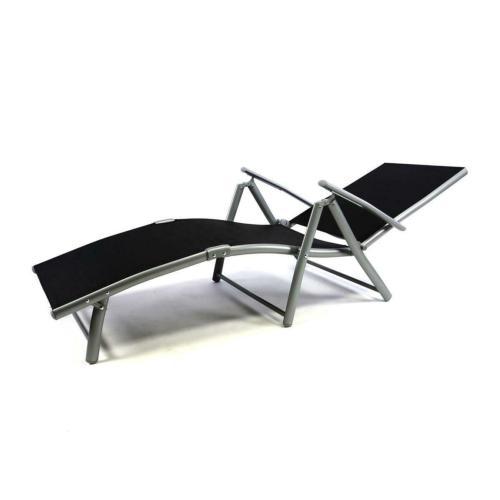 chaise longue transat pliable en aluminium