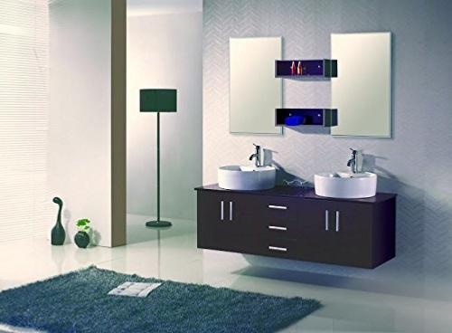 Meuble Salle De Bain Double Vasque Miroir Couleur Wenge