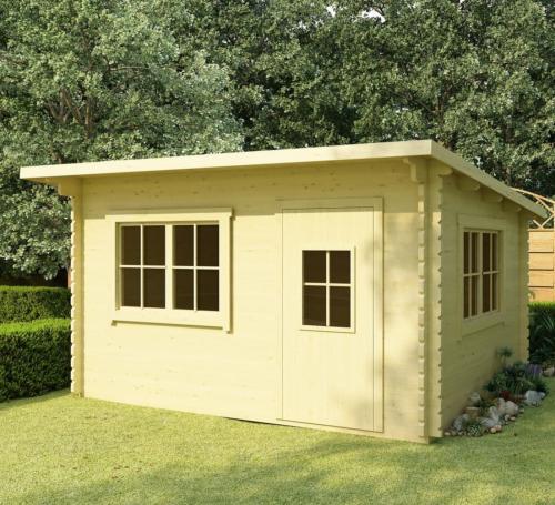 abri de jardin en bois massif 44 mm surface 12 m avec plancher