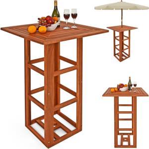 table haute style bistro en acacia