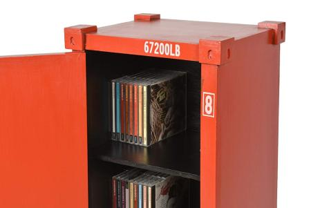 meuble range cd dvd ou livres style container retro