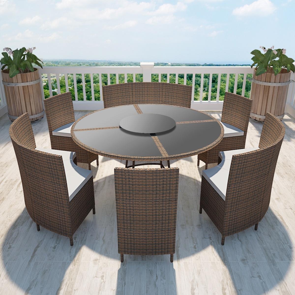 salon de jardin table ronde resine tressee  find gallery
