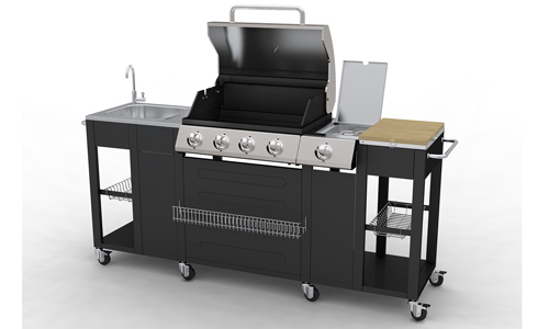 Barbecue Complet Inox Incorpor Dans Un Meuble De Cuisine