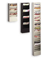 Wall Mounted Literature Rack At Direct Advantage