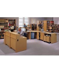 Laminated Library Circulation Desk At Direct Advantage