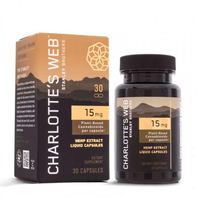 Charlottes Web Full Strength CBD Softgels 15mg 30