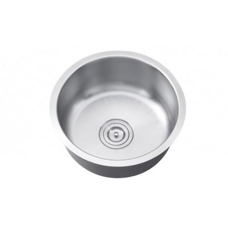 sis 109 round single bowl stainless steel bar sink