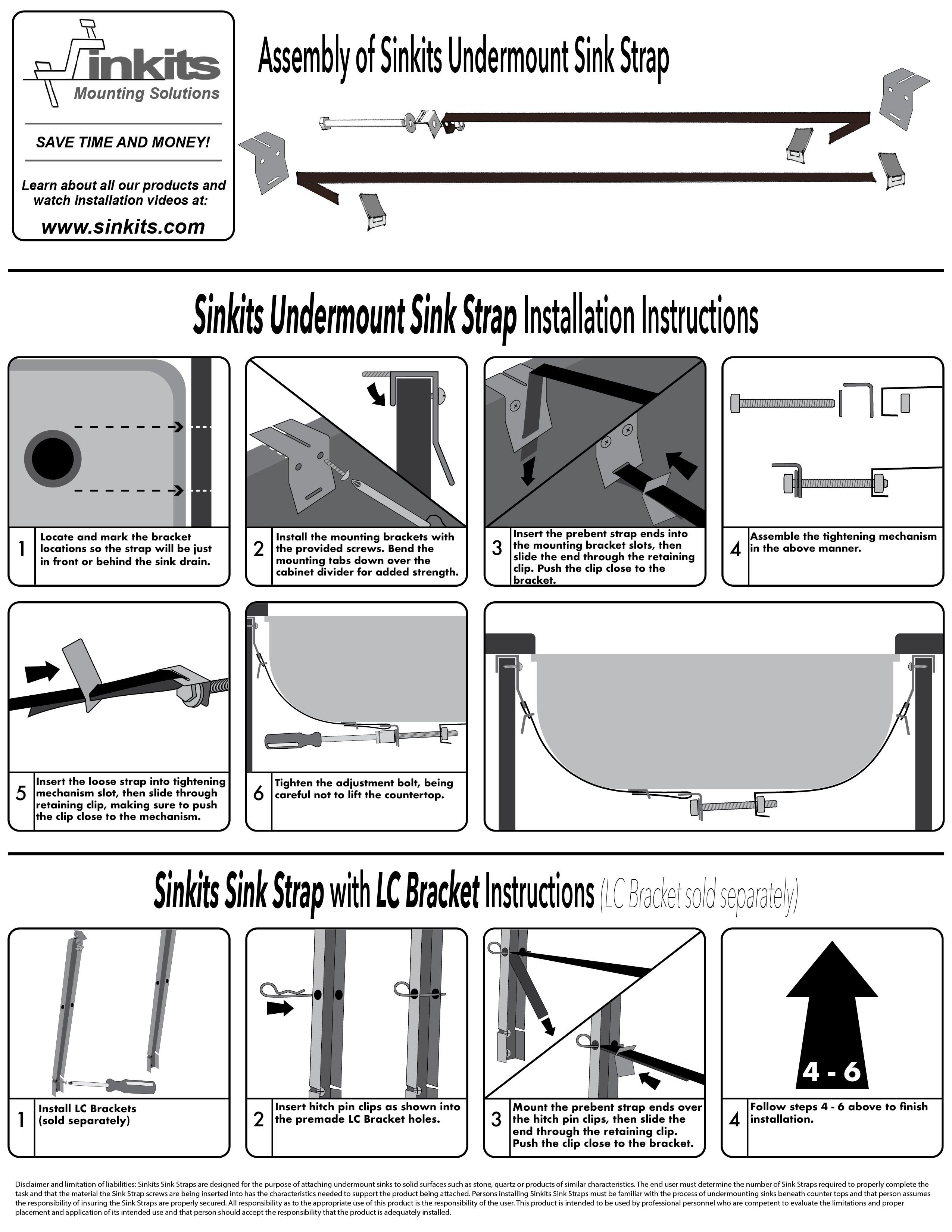 sinkits undermount sink strap