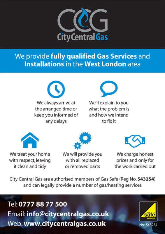 City Central Gas Flier Back