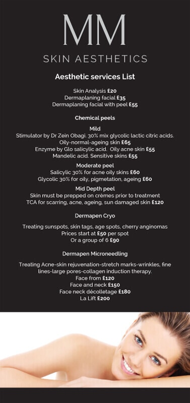 MM Price List Front