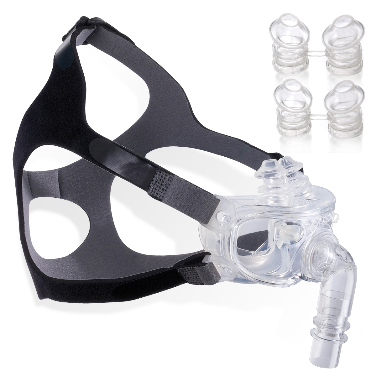 hybrid nasal pillows full face cpap mask fitpack with headgear