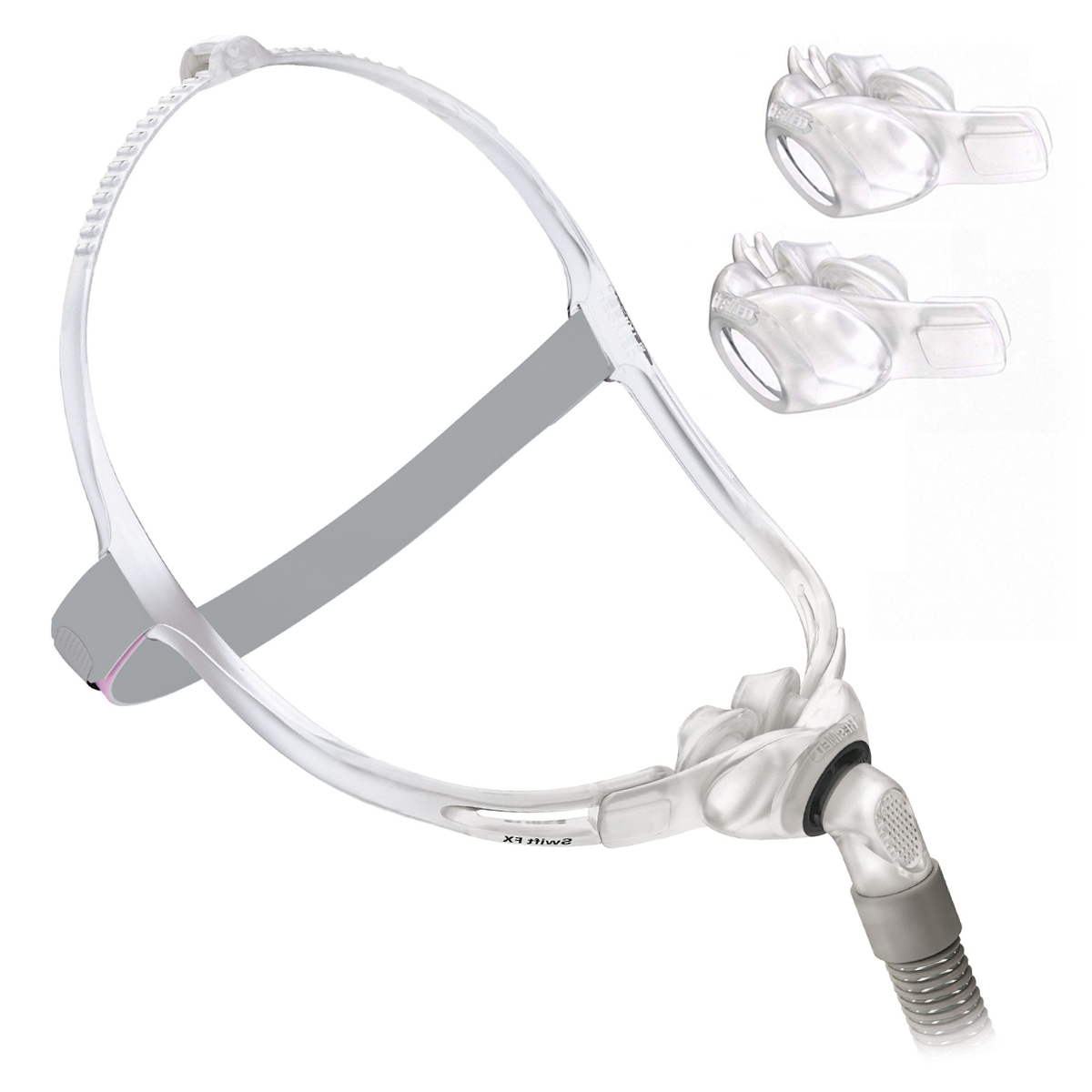 swift fx for her nasal pillows cpap mask fitpack with headgear